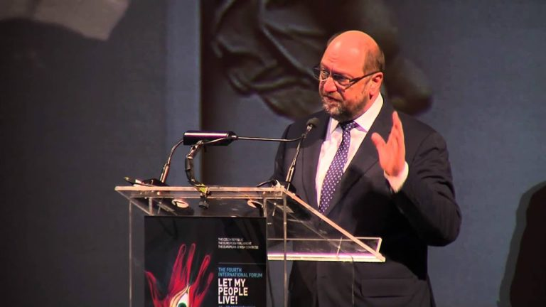 Mr. Martin Schulz Speech – 'Let My People Live!' Forum – Municipal Hall. Part I