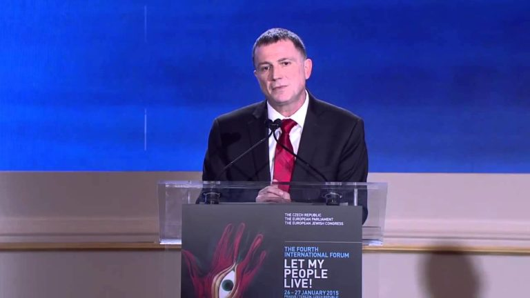 Let My People Live! Forum 2015 – Yuli-Yoël Edelstein addresses the participants at the Forum's Closing Session